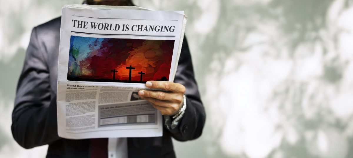 newspaper: the world is changing, the cross is coming